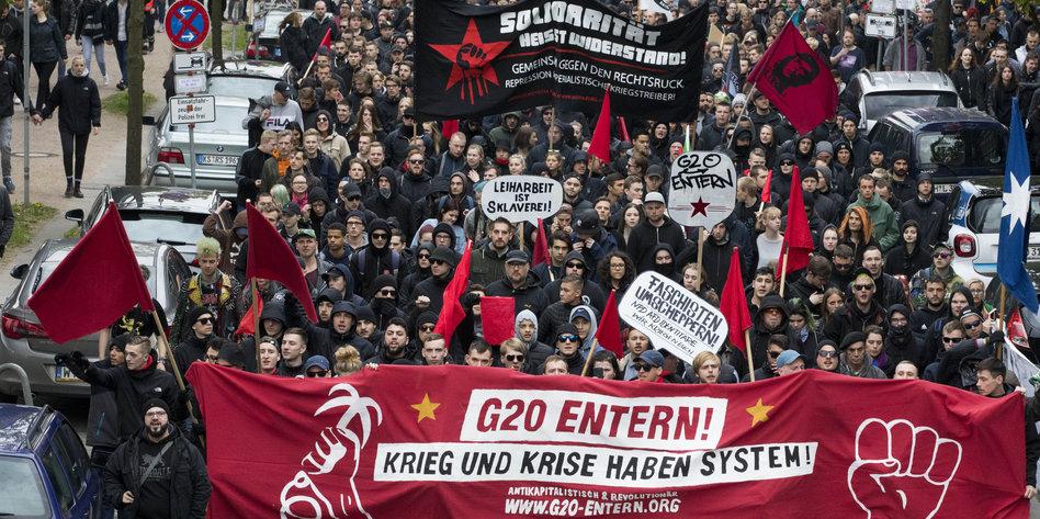 1. Mai in Hamburg - Demonstration